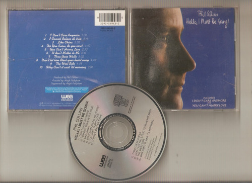 phill collins -hello i must be -cd (aleman)- maceo-disqueria