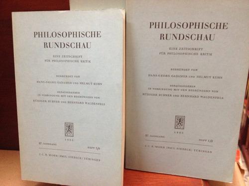 philosophische rundschau. aleman