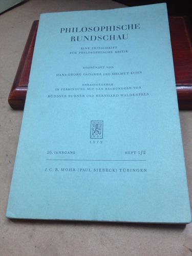 philosophische rundschau. alemánaleman