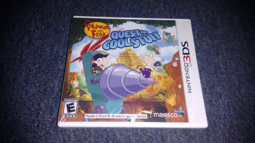 phineas and ferb quest for cool completo para nintendo 3ds