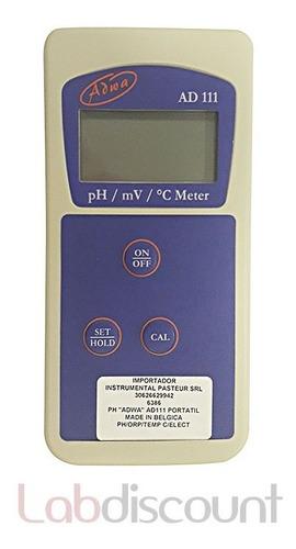 phmetro de mano  adwa  ad111 portable meter ph/orp/tem