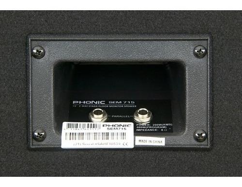 phonic sem715 bafle monitor piso pasivo 15p 2 vías 200w 6pag