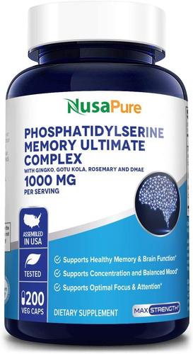 phosphatidylserine memory ultimate complex 1000mg por porció