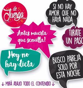 Photo Booth Casamiento Boda Imprimible 20 Frases Props