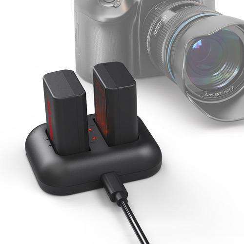 photoolex 2 pack 1150mah batería de alimentación y cargador