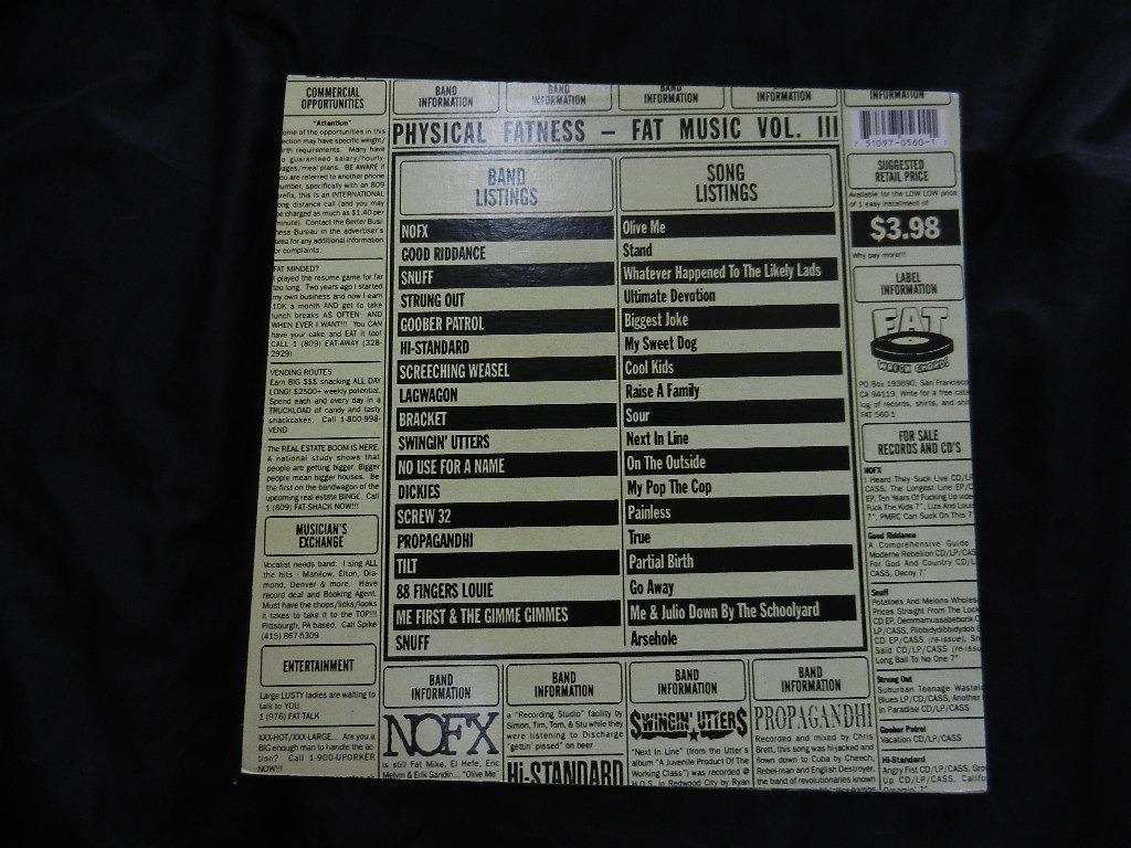 Physical Fatness Fat Music Vol  Iii Lp Usa Con Envio Gratis - $ 600 00
