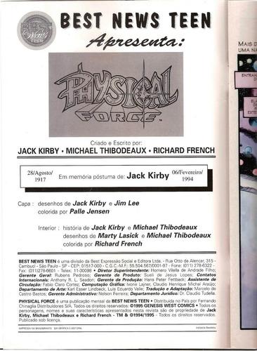 physical force / jack kirb & jim lee / best news teen
