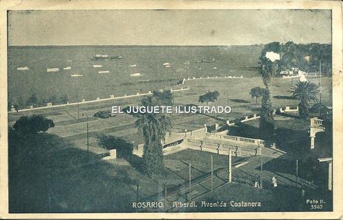 pi42 postal rosario alberdi costanera 1951 antigua santa fe