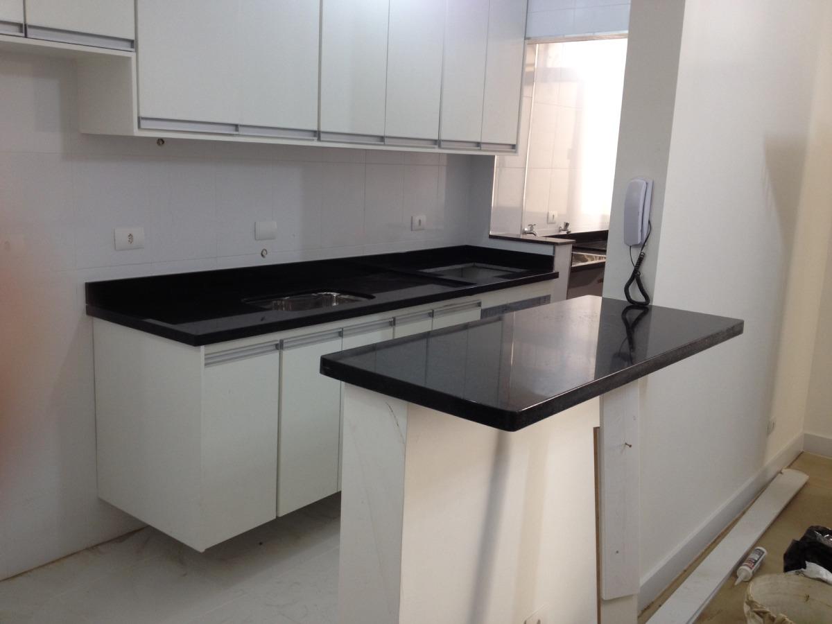 Pia Bancada Tampo Ilha Em Granito Preto S O Gabriel R 350  ~ Bancada Cozinha Granito Preto