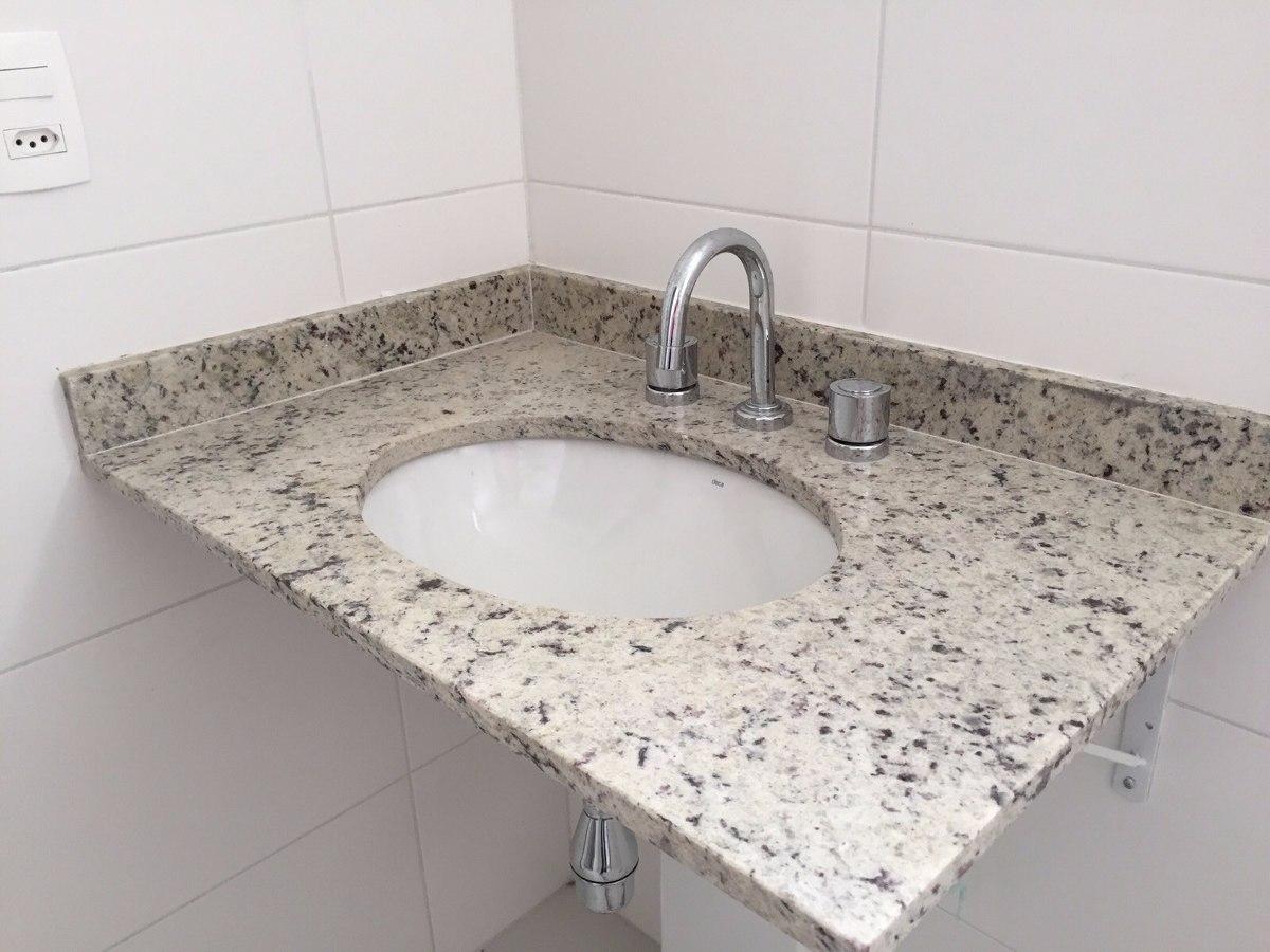 Pia De Granito De Banheiro + Cuba + Torneiras Deca  R$ 285,00 em Mercado Livre -> Pia Para Banheiro Tupan