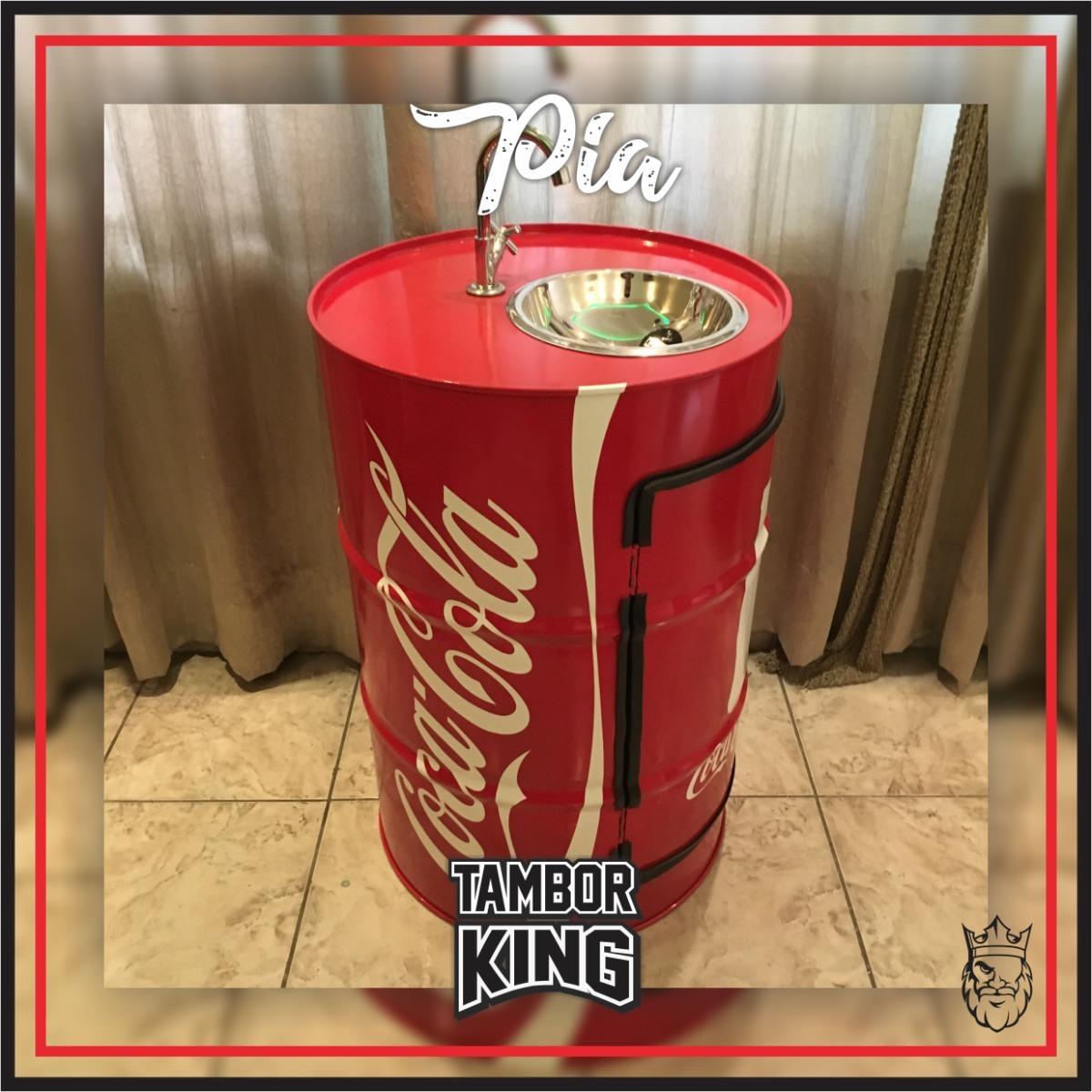 b7bd91d420 Pia Coca-cola - Tonel barril tambor - Decorativo Coca-cola - R  998 ...