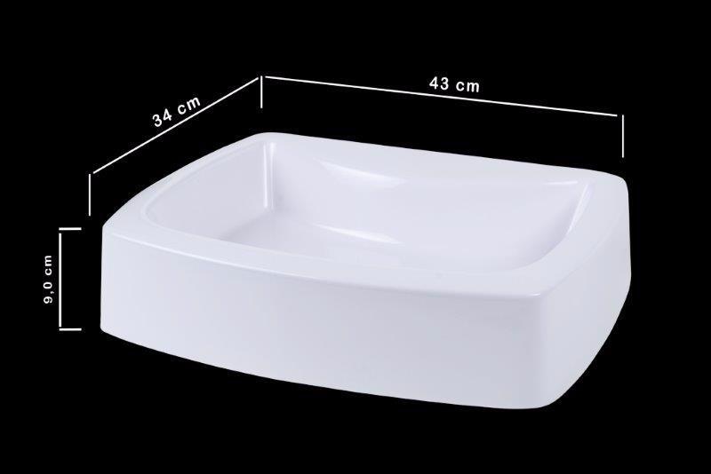 Pia Cuba De Apoio Para Banheiro Livina  R$ 89,00 em Mercado Livre -> Pia Banheiro Apoio
