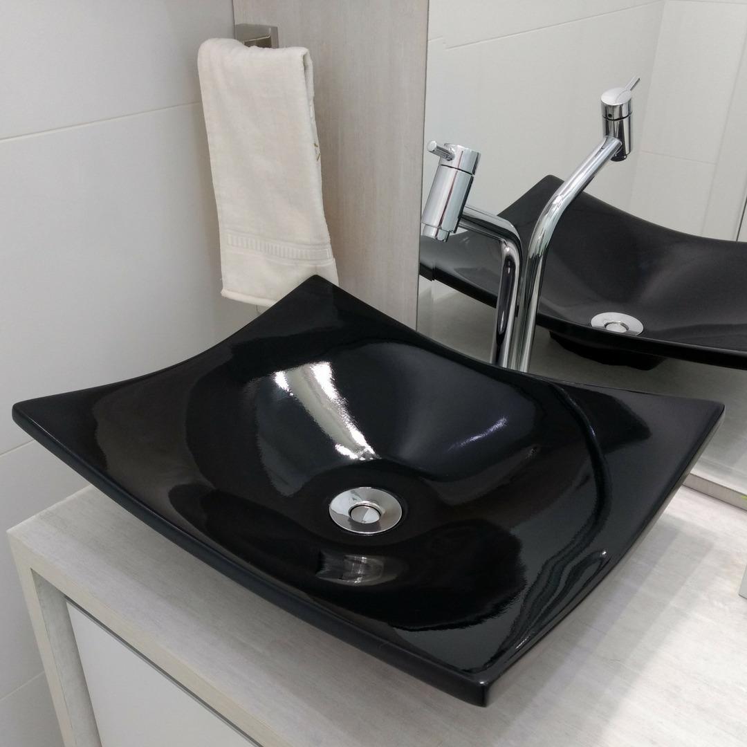 Pia Cuba Banheiro Apoio Copacabana Preto 43 5cm X 36cm R 119 99 Em Mercado Livre