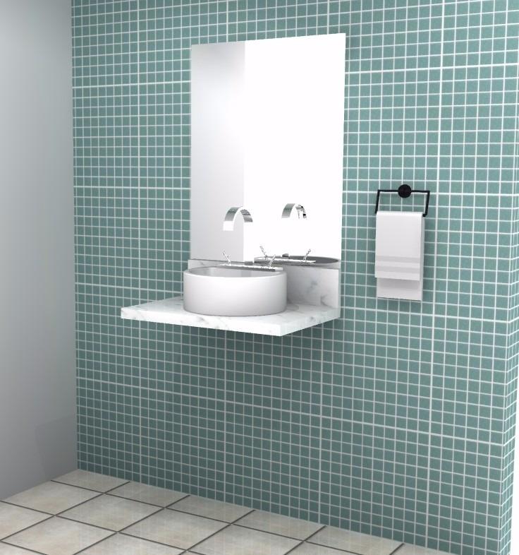 Pia De Banheiro Ou Lavabo Em Mármore Para Cuba De Apoio  R$ 320,00 em Mercad # Cuba Banheiro Marmore