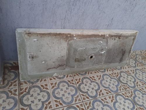 pia gabinete cozinha branca mármore sintético 1,50 x 0,56