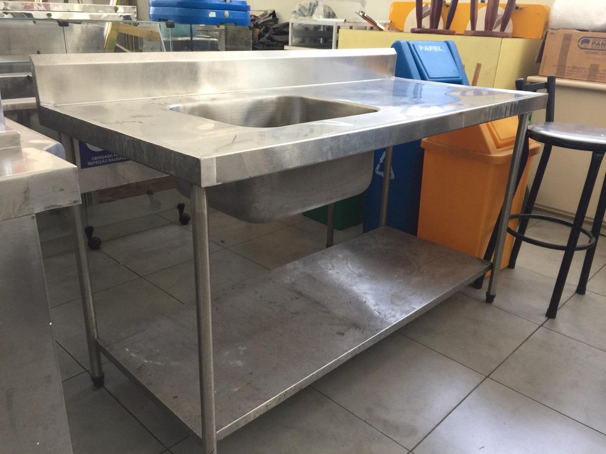 Pia Industrial De Inox De 1 50×0 70 Cuba De 0 50×0 40 0 25 R