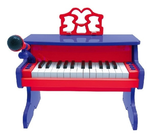 piano classico infantil usb teclado karaoke gravador mp3