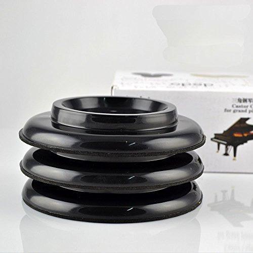piano de cola grandes tazas negro abs plastico piano pierna