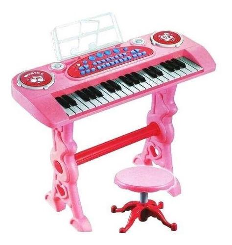 piano de mesa organeta electrónica 37 teclas silla y microf