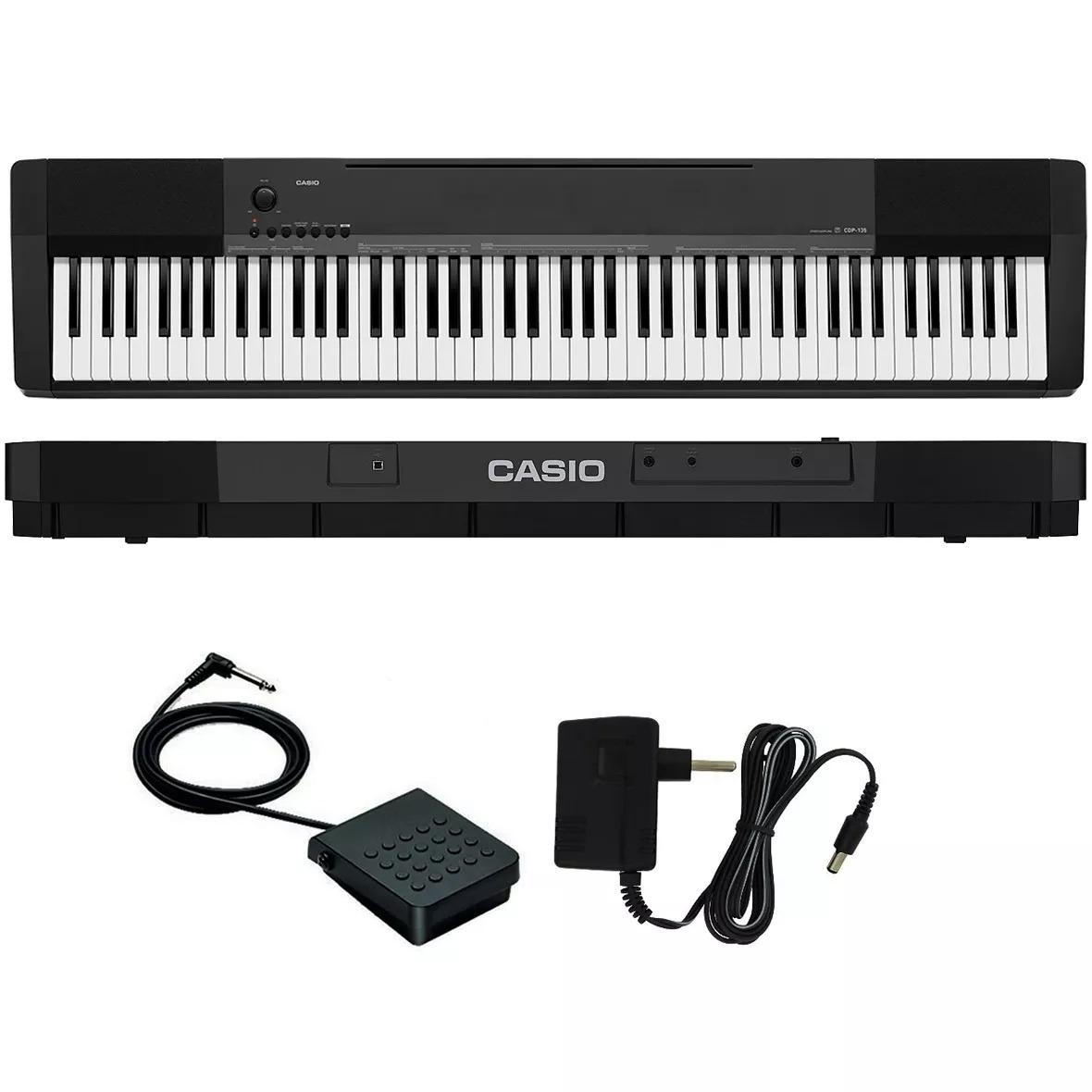 64faf767df2 Piano Digital Casio Cdp 135 C  Fonte