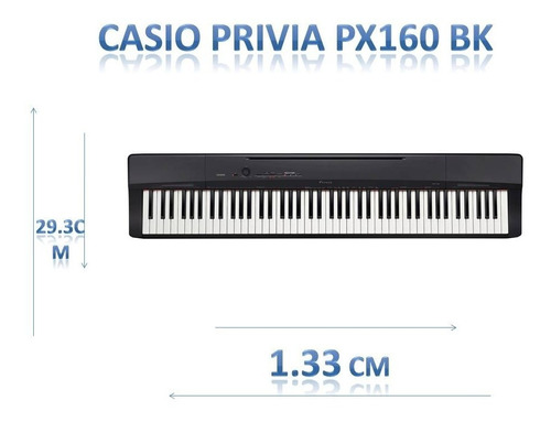 piano digital casio px160bk 7 1/2 oct.+ fuente de regalo