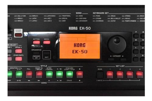 piano digital korg ek-50 280presets nuevos de paquete oferta