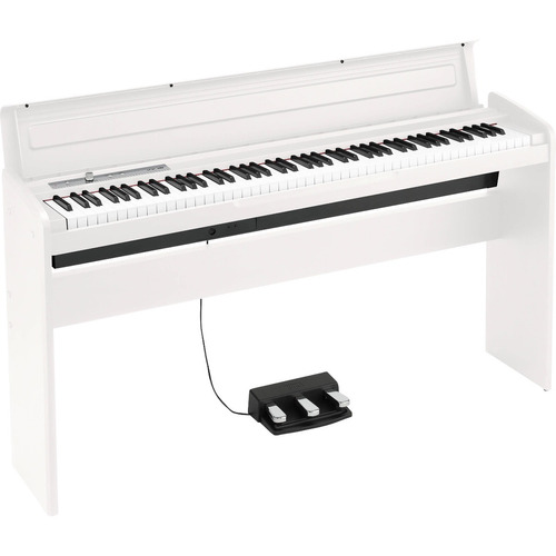 piano digital korg lp-180 soporte madera 3 pedales blanco