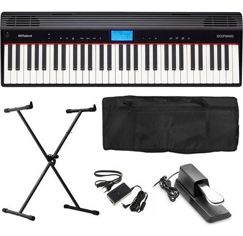 piano digital roland go piano go61p go-61p kit completo go61