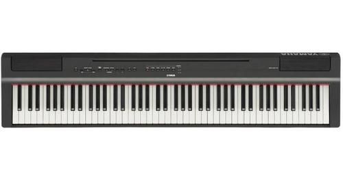 piano digital yamaha p-125 preto com 88 teclas de mecanism
