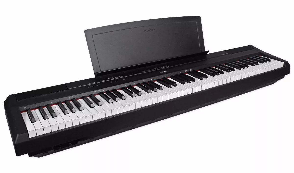 88 teclas, 14 sonidos Yamaha P-115B color negro Piano digital