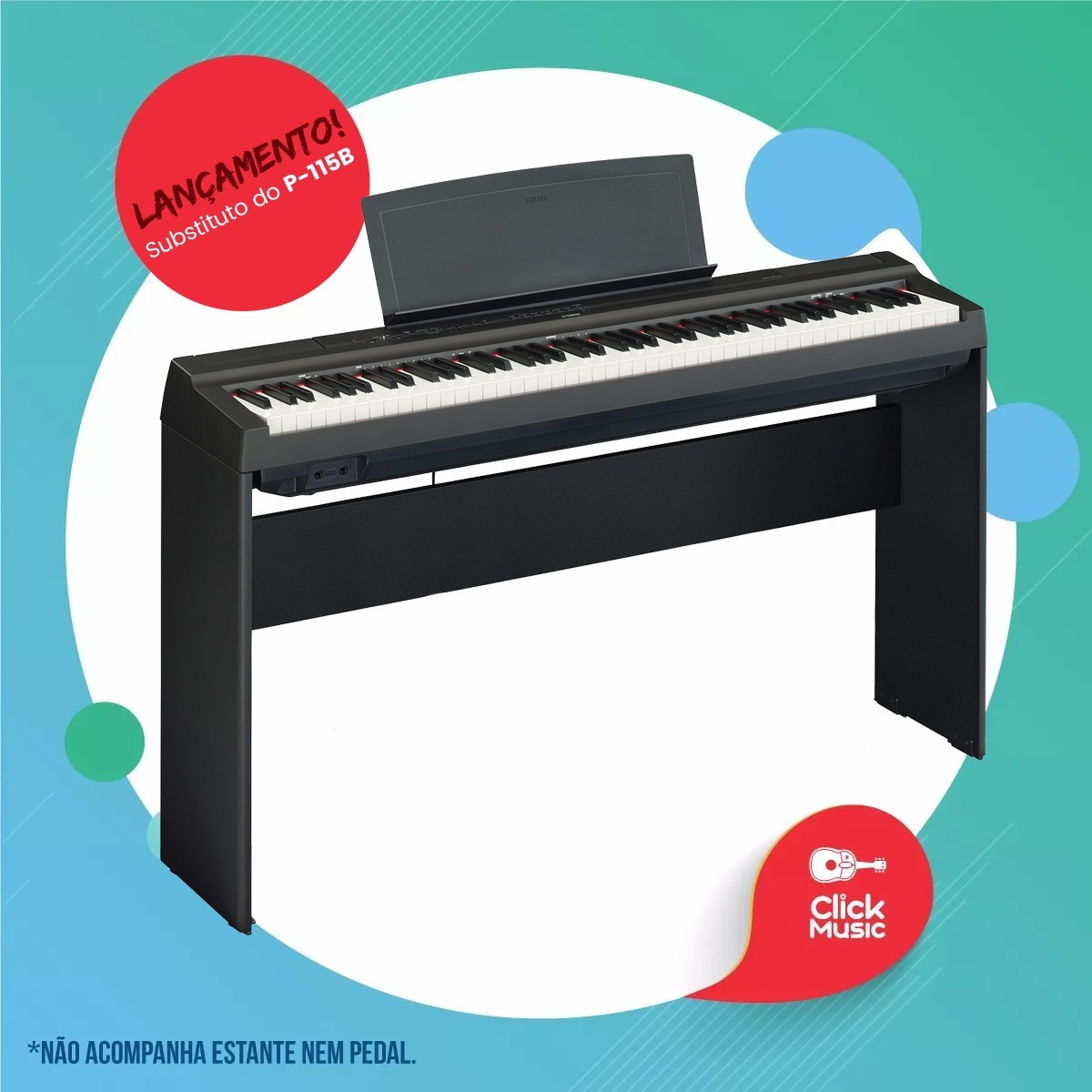 piano digital yamaha p125 b o sucessor do p115 r em mercado livre. Black Bedroom Furniture Sets. Home Design Ideas