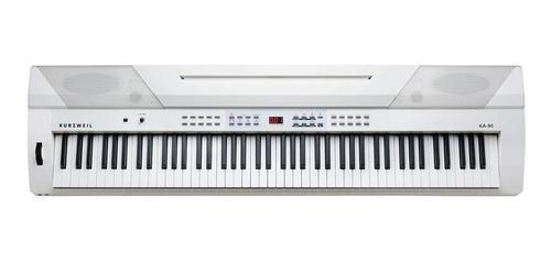 piano electrico 88 notas kurzweil ka90wh blanco