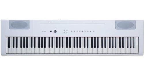 piano electrico artesia 88 teclas pesadas blanco con pedal