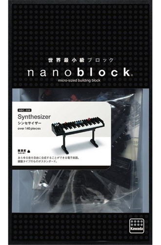 piano eléctrico sintetizador - bloques nanoblock - no lego