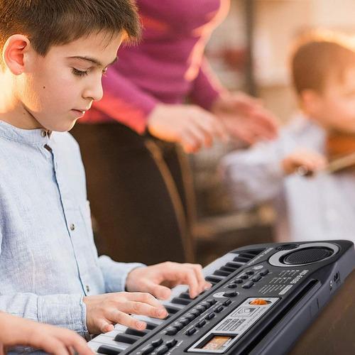 piano electrónico con micrófono 61 teclas para niños