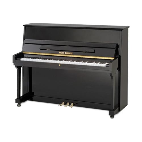piano fritz dobbert 115s preto acústico vertical