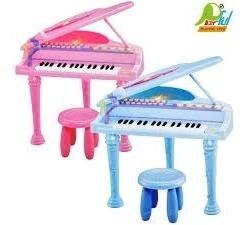 piano infantil azul 32 teclas teclado completo gravador luxo