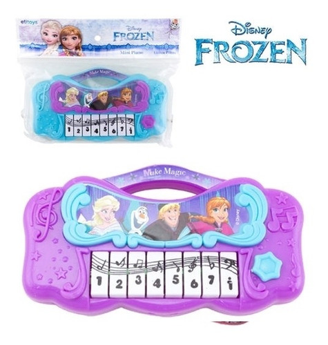 piano infantil frozen teclado musical princesa disney mini