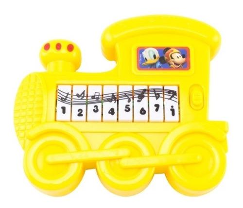 piano infantil mickey teclado musical mini trenzinho musical