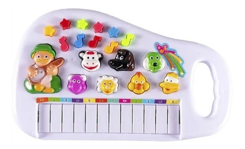 piano infantil teclado para bebe e criança com som dos bicho