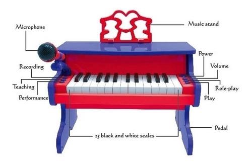 piano infantil usb  microfone mp3 ajuste meninos e meninas