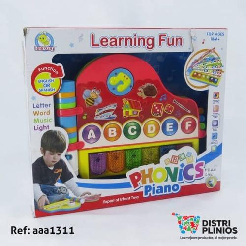 piano juguete inglés y español