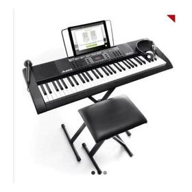Piano Kit Teclado Alesis Melody 61 + Banco + Micrófono Origi