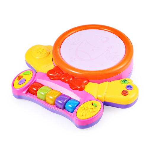 piano musical con rostro sonriente y luz colorido para bebé