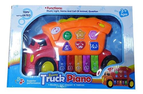 piano musical didáctico camión juguete bebes