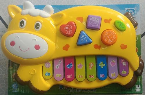 piano musical en forma de vaca (estimulacion para bebes)