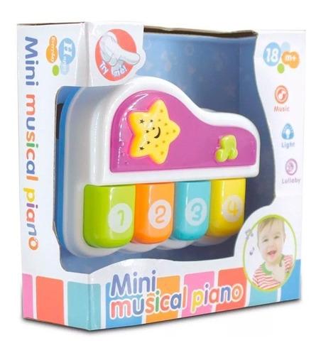 piano musical juguete didáctico bebe sonido, música y luz