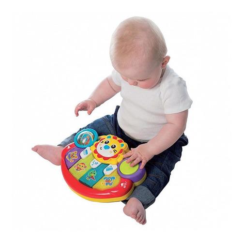 piano musical para bebe lion activity kick toy playgro edu