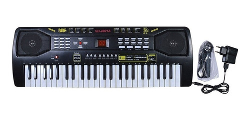 piano organeta teclado electró sd 4901-a 49 key pantalla led