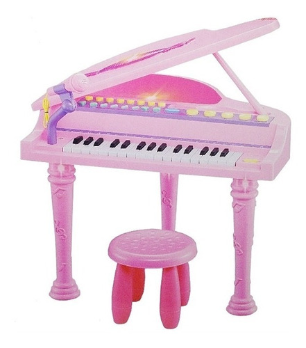 piano sinfonia infantil com gravador banco microfone menina